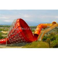 Buy cheap Long Swimming Pool Aqua Park Equipment Fiberglass Surf Wave Pool Water Slide from wholesalers