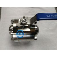 China Butt Weld End High Pressure Ball Valve RPTFE / PEEK Valve Seat Design on sale