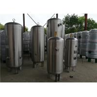 Buy cheap ASME Standard Stainless Steel Air Receiver Tank With Relief Valve High Volume from wholesalers