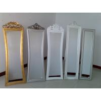 Buy cheap wooden framed cheval mirror,standing dressing mirror from wholesalers