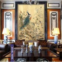 Buy cheap Peacock Workshipping Art Decorative Painting, Traditional Chinese Painting, upscale decorative Painting from wholesalers