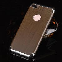 Buy cheap 3 in 1 Hard PC Plating Border Wood Grain Cell Phone Case Cover For iPhone 7 7 Plus 6 6s Plus from wholesalers