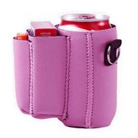 Buy cheap Can with Cigarette and Lighter Holder Slim Can Sleeves Neoprene Beverage Coolers (Pink) product
