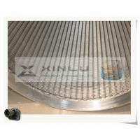 Buy cheap Stainless Steel Filter Wedge Johnson Wire Screen , Deep Well Water Pipes product