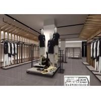 Buy cheap Luxury Clothing Store Display Racks With Shelves , Dress Shop Display Stands from wholesalers