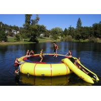 Buy cheap Custom Printing Inflatable Water Trampoline Eco Friendly For Water Park from wholesalers
