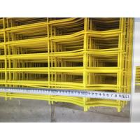Buy cheap Yellow Double Edge Welded Mesh Fence Simple Structure 2.5mL*1.8mH / 2.0mL*1.8mH from wholesalers