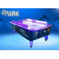 Buy cheap 2 Player Arcade Table Games Coin Operated Curve Screen / Adult Air Hockey from wholesalers