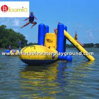 Buy cheap Outdoor Large Inflatable Water Sports With Climb , Slide And Launch Bag from wholesalers