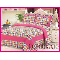 Buy cheap plaid patchwork bedding sets Patchwork 100%Cotton Quilt Bed Setting 3PCS & 4PCS from wholesalers