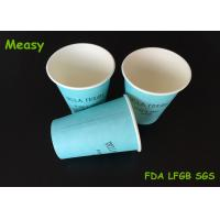 Buy cheap 12OZ Teal Color Hot Paper Cups With Black Letter Printings , Takeaway Coffee Cup from wholesalers