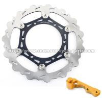 Buy cheap RM 125 250 Grooved Motorcycle Brake Disc With CNC Machined Bracket from wholesalers