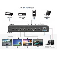 Buy cheap 4 in 4 out Matrix 4K HDMI Switch and support 2*2 video wall and Seamless switch product