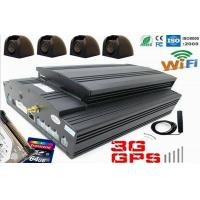 Buy cheap Car / Bus / Truck 4CH real time HDD 3G Mobile DVR with GPS WIFI & G-sensor from wholesalers
