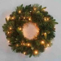Buy cheap Decorative Christmas wreath/outdoor lighted wreath, customized colors and sizes are accepted from wholesalers