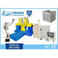 Buy cheap Steel Cabinet Case Industrial MIG Arc Welding Robot with Two Axis Positioner from wholesalers