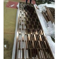 Buy cheap 201 stainless steel pipe welded wall panels Foshan factory wholesale price screen divider from wholesalers