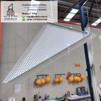 Buy cheap SUDALU Triangle Shape Aluminum Perforated Panel for Facade Cladding from wholesalers