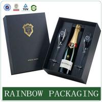 Buy cheap Luxury wine glass paper box packaging ,  paperboard box , factory custom wine box product
