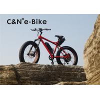 Buy cheap Fat Tire Electric Sand Bike With Full Suspension , High Speed Womens Fat Tire Beach Cruiser from wholesalers