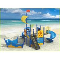 Buy cheap PE plastic coated light blue ship type outdoor playground for kids KQ60104D from wholesalers