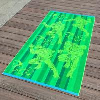 Full Color Printed Jacquard Beach Towel Luxurious Feel With Ninja Turtle Patterns