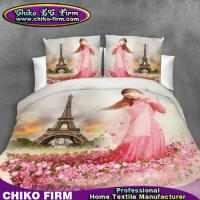 Buy cheap Little Girl Rose Flowers Design Pure Polyester 3D Printed Bedding Sets from wholesalers