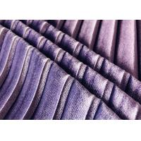 Buy cheap 290GSM Purple Velvet Material 93% Polyester Warp Knitted Pleat for Lady's Skirt Violet from wholesalers