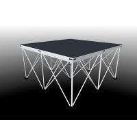 Buy cheap 18kg per piece 4ftx4ft Lightweight portable folding stage with stairs portable steel stage platform from wholesalers