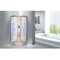 KPN2064 Customized Circle Glass Shower Cabin , Curved Corner Shower Units