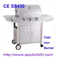 Buy cheap Outdoors Gas Grill cast iron 3burner plus side burner from wholesalers