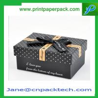 Buy cheap Custom Ribbon Box Rigid Cardboard Boxes Set-Up Gift Boxes Paper Gift Box from wholesalers