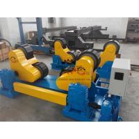 Black PU Wheel Automatic Pipe Welding Rotator 60T Rotary Capacity