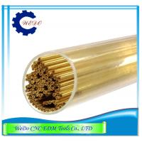 Buy cheap Double Hole EDM Brass Tube / Eletrode Pipe For EDM Drilling Machine 0.7x400mmL from wholesalers