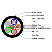 Buy cheap Outdoor 12 Core Armoured Fiber Optic Cable GDTA Optical Power Composite Cable from wholesalers