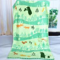 Buy cheap Custom Forest Jacquard Woven Velvet Beach Towels Canada Heavy Weight 550gsm from wholesalers