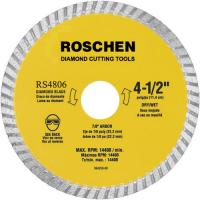 Buy cheap General Purpose 9 inch Waved Turbo Diamond Cutting Blades , Yellow / Green from wholesalers
