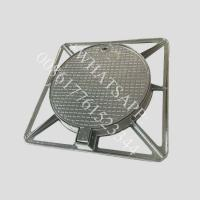 Buy cheap EN124 D400 850X850 for Road Heavy Duty Ductile Iron Manhole Cover from wholesalers