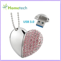 Buy cheap USB 3.0 32GB Necklace Crystal Heart USB Flash Drive from wholesalers