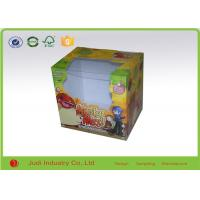 Buy cheap Folding Packaging Boxes With PVC Window , Matt Lamination Square Gift Boxes from wholesalers