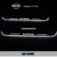Buy cheap Nissan X-Trail car pedal set LED lights pedal car step Moving door scuff from wholesalers
