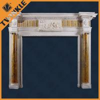 Buy cheap Natural Antique Granite Fireplace Mantel For Outdoor , European Simple Style from wholesalers
