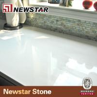 Buy cheap low maintain snow white quartz countertop from wholesalers