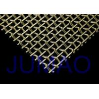 Buy cheap Interior Flat / Bright Woven Wire Mesh , Security Stainless Steel Wire Mesh product