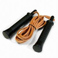 Buy cheap 9ft Leather Jump Rope with Nylon Handle from wholesalers