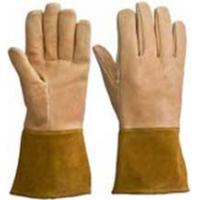 "Buy cheap 14""Yellow Pigskin Leather Welding Gloves from wholesalers"