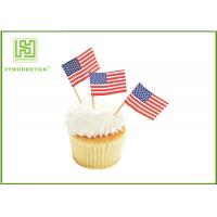 Buy cheap Colorful Food Grade Cake Decoration Toppers Flag Food Picks For Holidays from wholesalers