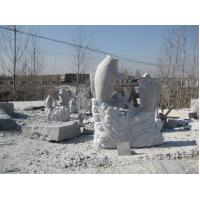 Buy cheap garden ornaments fish stone statue from wholesalers