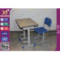 Buy cheap Height Adjustable Floor Free Standing Kids School Desk Chair With Foot Rest from wholesalers