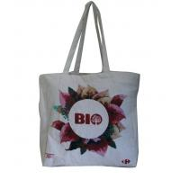 Buy cheap Natural color Eco linen  fabric personized printing Tote bag from wholesalers